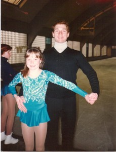 Allison Manley and Joe Druar around 1982 in a photo for the Manleywoman Skatecast, a figure skating podcast