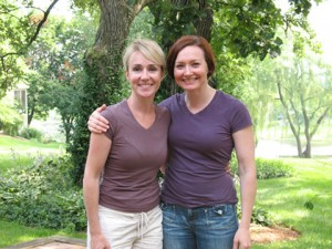 Allison Manley and Susie Wynne in a photo for the manleywoman skatecast, a figure skating podcast