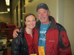 Allison Manley and Charlie Tickner in a photo for for the manleywoman skatecast, a figure skating podcast