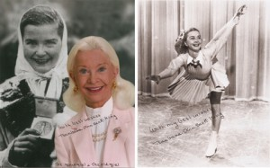 Photos from Barbara Ann Scott of her as old woman and a young skater